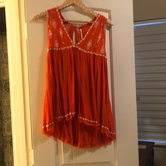 Free People Tops - Orange and white free people top